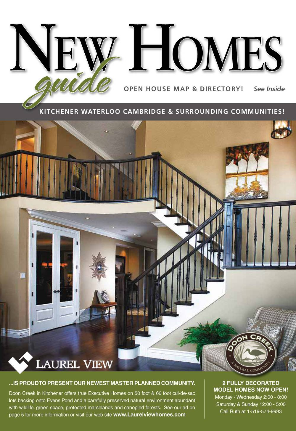 Laurel view homes featured on the front cover of homes for Front of house magazine