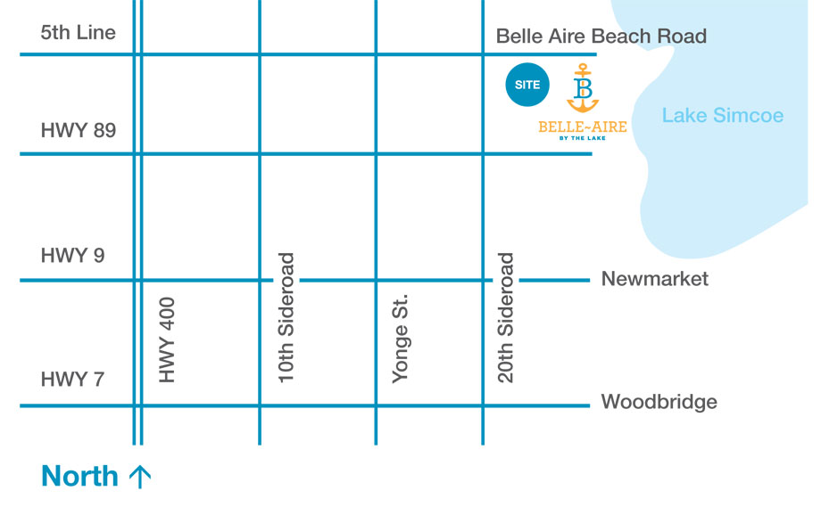 Belle Aire by the Lake - Site Location & Key Map
